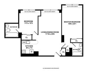 floorplan for 220 East 65th Street #11K