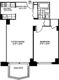 floorplan for 220 East 65th Street #16F