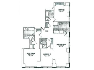 floorplan for 845 United Nations Plaza #19A