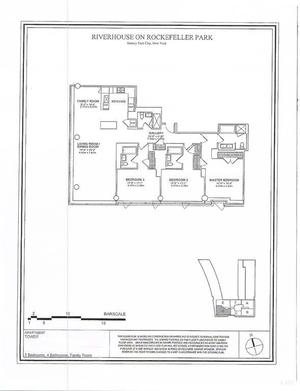 floorplan for 2 River Terrace #17D