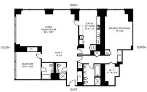floorplan for 845 United Nations Plaza #44BC