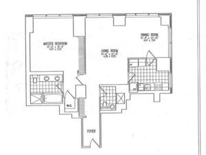 floorplan for 845 United Nations Plaza #21H