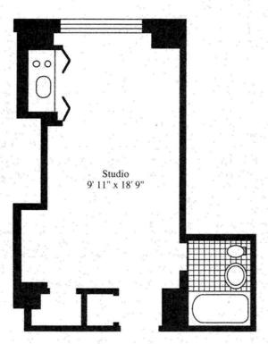 floorplan for 5 Tudor City Place #429