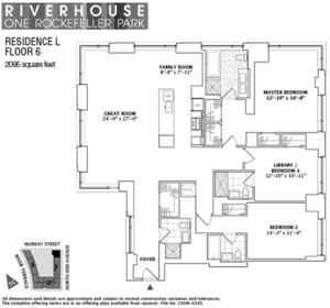 floorplan for 2 River Terrace #6L