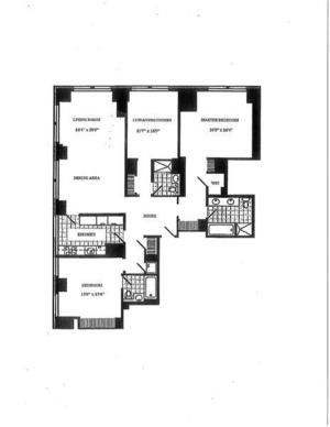 floorplan for 845 United Nations Plz #21A