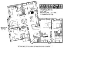 floorplan for 2 River Terrace #14JK