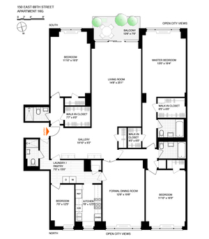 floorplan for 150 East 69th Street #16G