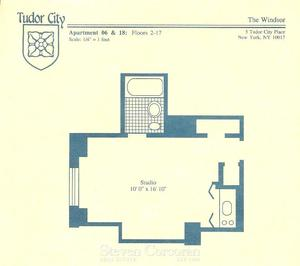floorplan for 5 Tudor City Place #206