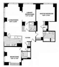 floorplan for 845 United Nations Plaza