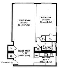 floorplan for 200 East 36th Street #8G