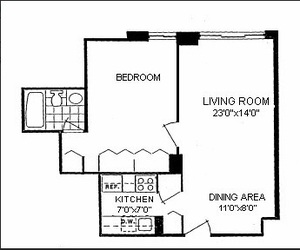 floorplan for 220 East 65th Street #6A