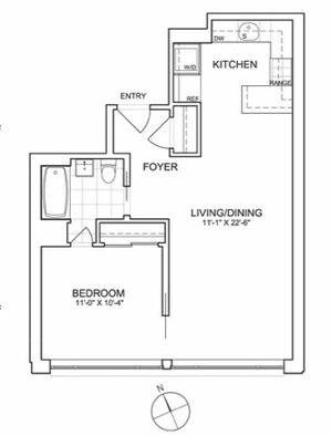 floorplan for 461 West 150th Street #4A
