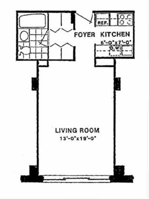 floorplan for 220 East 65th Street #15E