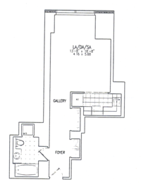floorplan for 845 United Nations Plaza #5F