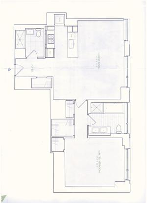 floorplan for 2 River Terrace #29F