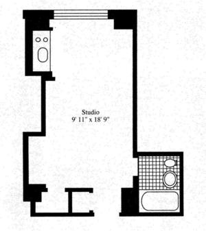 floorplan for 5 Tudor City Place #729