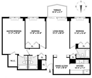 floorplan for 220 East 65th