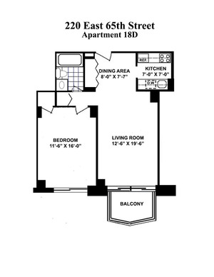 floorplan for 220 East 65th Street #18D