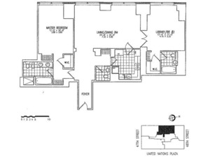 floorplan for 845 United Nations Plaza #55D