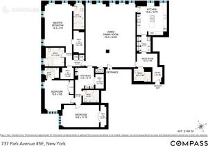 floorplan for 737 Park Avenue #5E