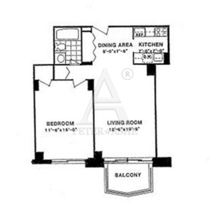 floorplan for 220 East 65th Street #15D