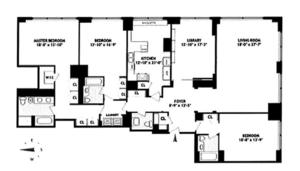 floorplan for 845 United Nations Plaza #82B