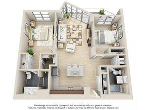 floorplan for 111 Kent Avenue #3I