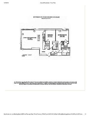 floorplan for 2 River Terrace #20E