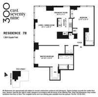 floorplan for 300 East 79th Street #7B