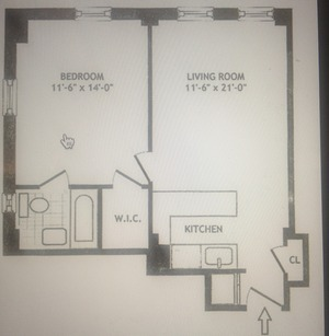 floorplan for 5 Tudor City Place #109