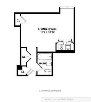 floorplan for 5 Tudor City Place #930