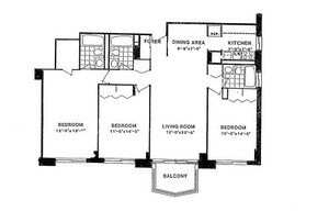 floorplan for 220 East 65th Street #20C