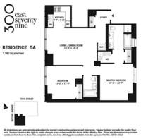 floorplan for 300 East 79th Street #5A