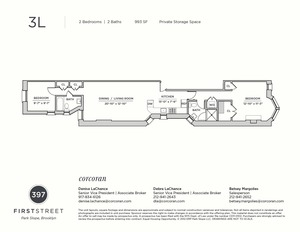 floorplan for 397 1st Street #3L