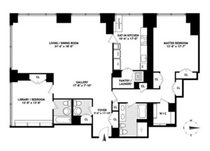 floorplan for 845 United Nations Plaza #37C