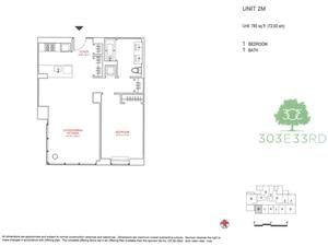 floorplan for 303 East 33rd Street #2M