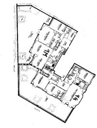 floorplan for 15 Central Park West #9GM