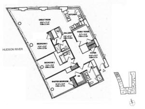 floorplan for 2 River Terrace #4R