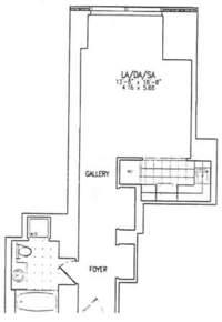 floorplan for 845 United Nations Plz #23F