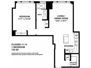 floorplan for 37 West 21st Street #508