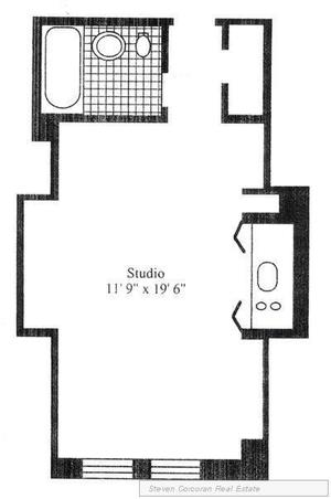 floorplan for 5 Tudor City Place #1501