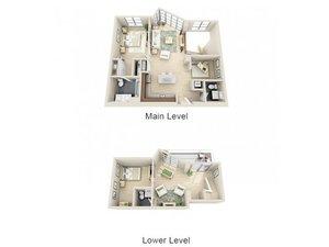 floorplan for 111 Kent Avenue #1B