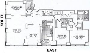 floorplan for 845 United Nations Plaza #52B