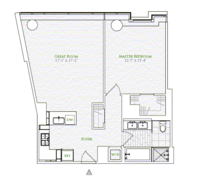 floorplan for 1 River Terrace #6K