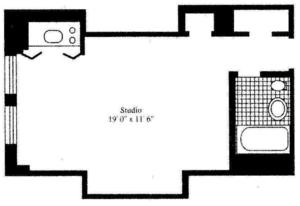 floorplan for 5 Tudor City Place #1722