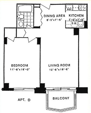 floorplan for 220 East 65th Street #9D