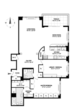 floorplan for 150 East 69th Street #15Q