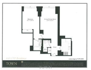 floorplan for 845 United Nations Plaza #20C