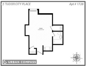 floorplan for 5 Tudor City Place #1728
