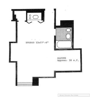 floorplan for 5 Tudor City Place #2135